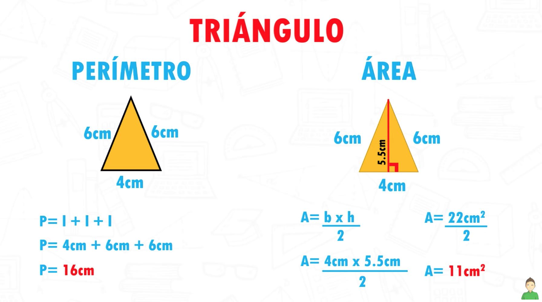 PERÍMETRO Y ÁREA DEL TRIANGULO
