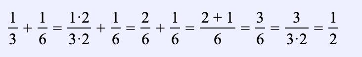 Ejemplo 3. Encuentra la suma de dos fracciones: