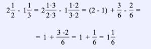 Ejemplo 11. Encuentra la diferencia de dos números mixtos: