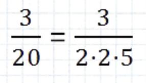 convertir una fracción en decimal