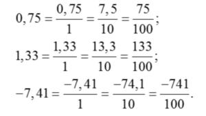 como convertir decimal a fraccion